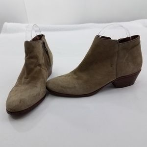 Sam Edelman Size 7.5 Booties Petty Tan Gray Womens